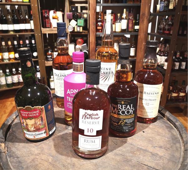 Online Tasting Rum versus Whisky 11.06.21