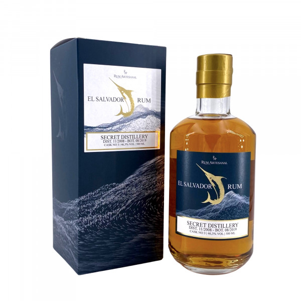 Rum Artesanal El Salvador Secret Distillery Rum 11/2008 - 08/2019 Single Cask #3