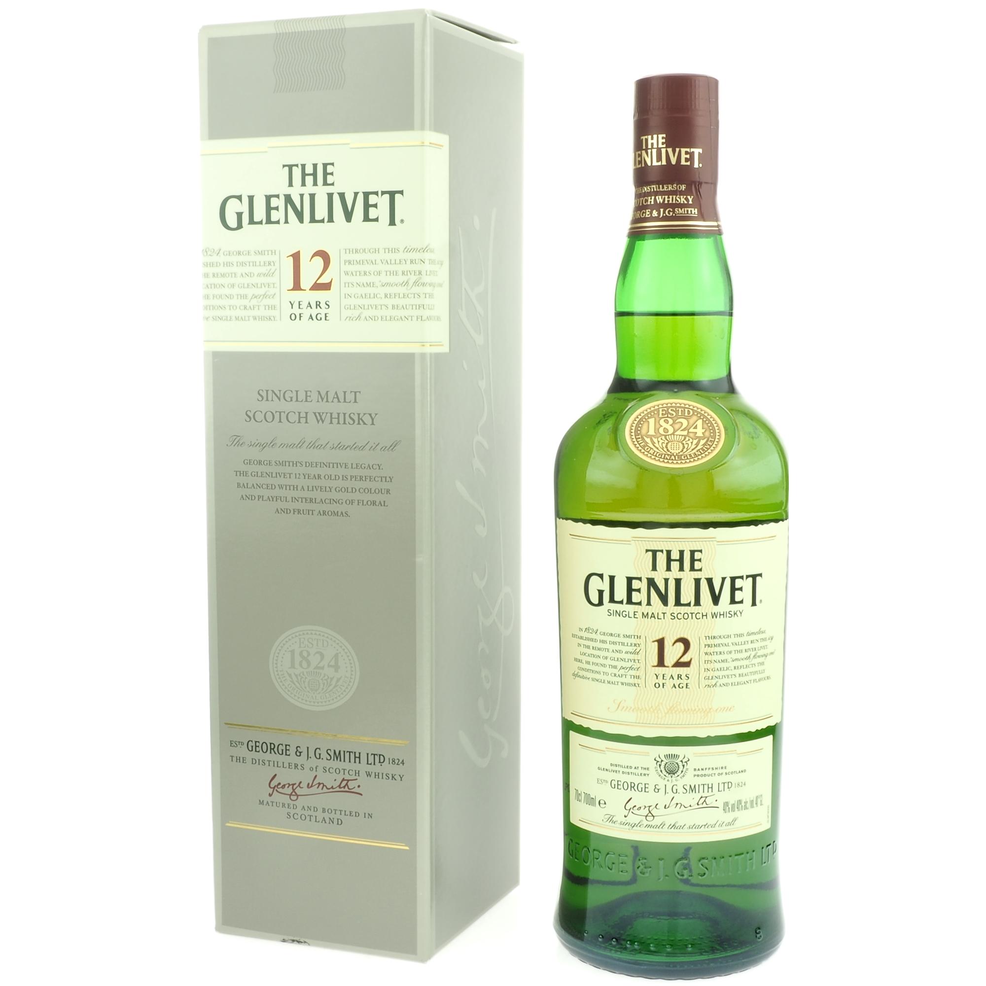 The Glenlivet 12 Years Of Age Single Malt Scotch Whisky