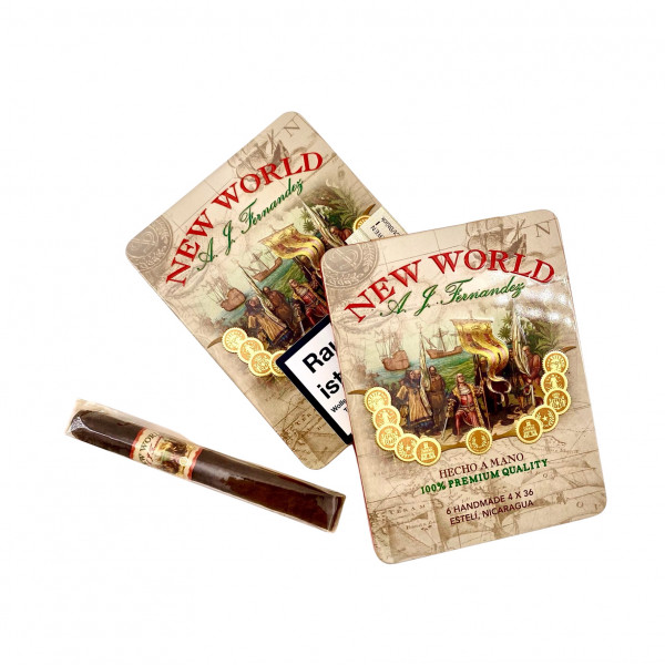 A.J. Fernandez New World Oscuro Petit Corona Tin Box