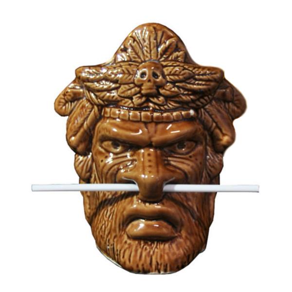 Tiki Mug Witch Doctor + Bambus Trinkhalm