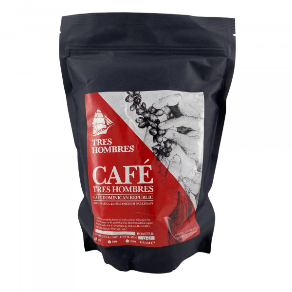 Tres Hombres Bio-Kaffee, Dominikanische Republik 250 Gramm