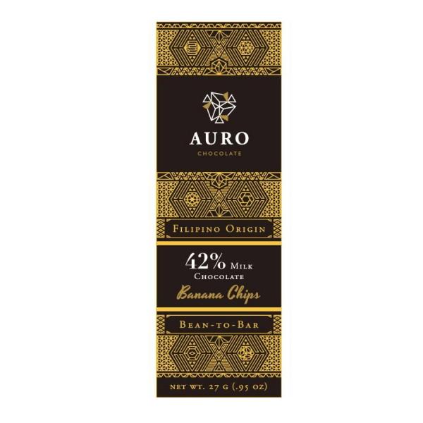 Auro Saloy - Milchschokolade mit Bananenchips