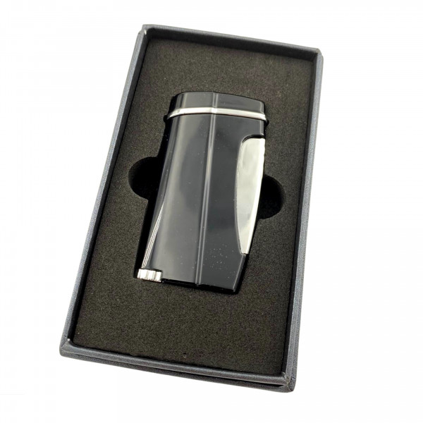 XIKAR Executive II Lighter Black Single Jet-Flame