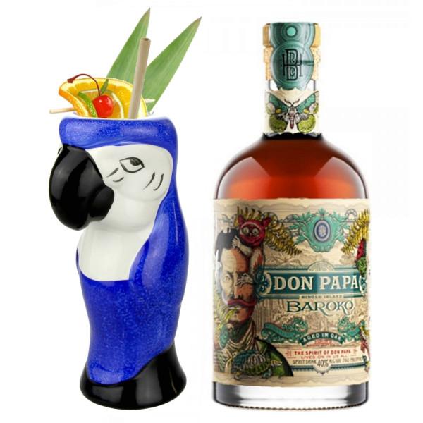 Tiki Mug Parrot + Don Papa Baroko