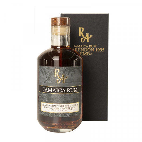Rum Artesanal Jamaica Rum Clarendon EMB 07/1995 - 07/2021