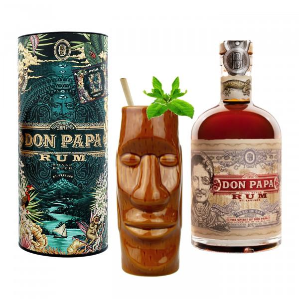Tiki Mug Moai + Don Papa Cosmic